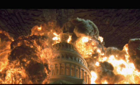 "Washington may crumble in less dramatic fashion than depicted in the film ""Independence Day."""