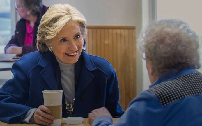 Hillary Clinton is going to meet some resistance to giving the Democrats another four years in the White House, but the polarized electorate is her friend. (Image from HillaryClinton.com.)