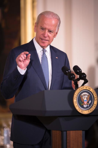 "Vice President Joe Biden, seen here at this spring's White House Easter prayer breakfast, decided to leave ""what could have been"" alone. (CNS photo/Tyler Orsburn)"