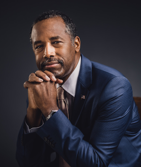 Ben Carson combines a low-key speaking style with some of the most inflammatory rhetoric in the presidential campaign. (Image from BenCarson.com)