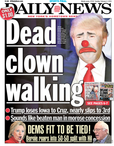 Is this New York tabloid getting ahead of the story?