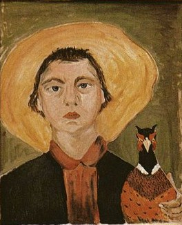 Flannery O'Connor self-portrait