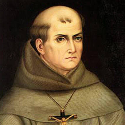 Blessed Junipero Serra, a Spanish Franciscan who ministered in U.S. and Mexico. During his flight from Sri Lanka to Manila, Philippines, Jan. 15, Pope Francis said he would canonize Blessed Junipero in September. (CNS photo)