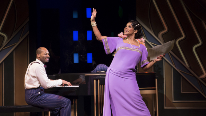"A STAR IS REBORN. Brandon Victor Dixon and Audra McDonald in ""Shuffle Along, or the Making of the Musical Sensation of 1921 and All That Followed"" (photo: Julieta Cervantes)."