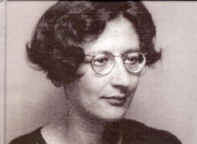 Simone Weil, via Wikimedia Commons.