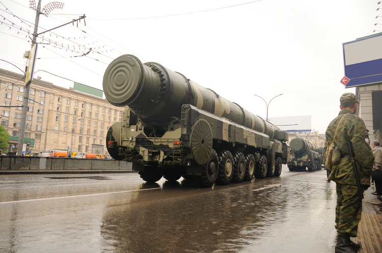 FALSE SECURITY. Ballistic missiles at a Russian parade.
