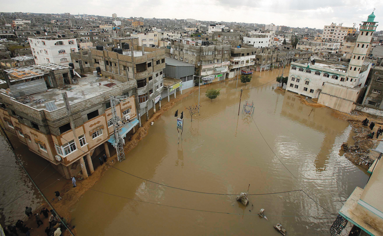 Christmas Flood: Heavy rains in December overwhelmed the decrepit infrastructure of Gaza City.