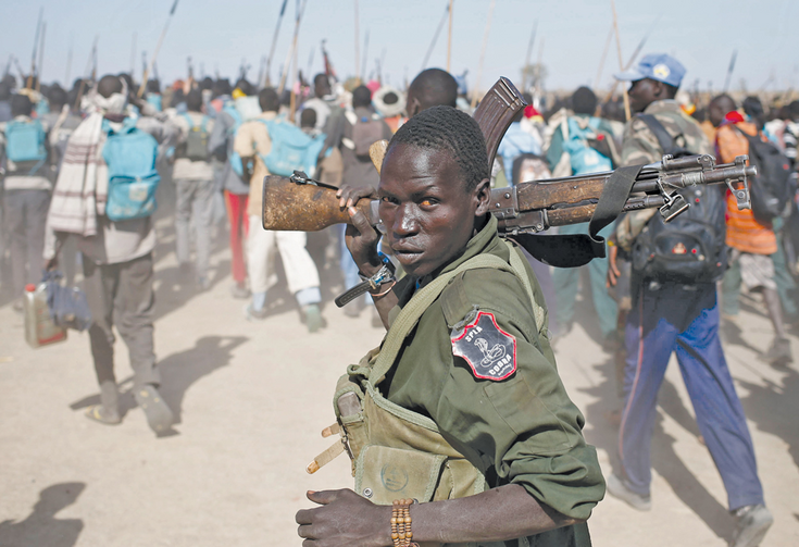 On The Move: Rebel in Upper Nile State on Feb. 13, 2014.