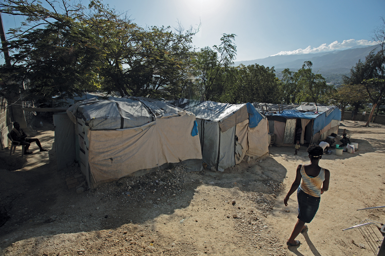 RECONSTRUCTION ERA. More than 85,000 people still live in tent camps across Haiti's earthquake zone.