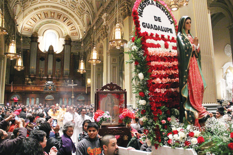Our Multicultural Church: the feast of Our Lady of Guadalupe on Dec. 12, 2012, at the Cathedral Basilica of SS. Peter and Paul in Philadelphia.
