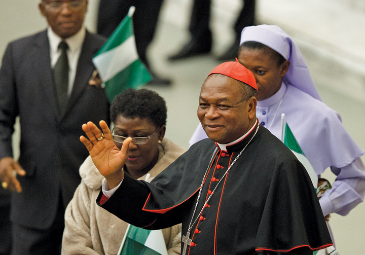 For the Law: Cardinal John Onaiyekan of Abuja, Nigeria, joined other Nigerian bishops in commending legislation that criminalized same-sex relationships.
