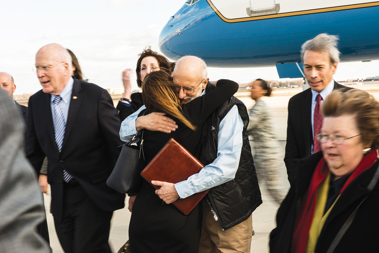 HOMECOMING. After five years of captivity in Cuba, Alan Gross returned on Dec. 17.