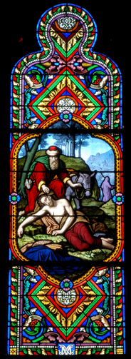Church of Saint-Eutrope in Clermont-Ferrand, stained glasses. Courtesy Wikimedia.