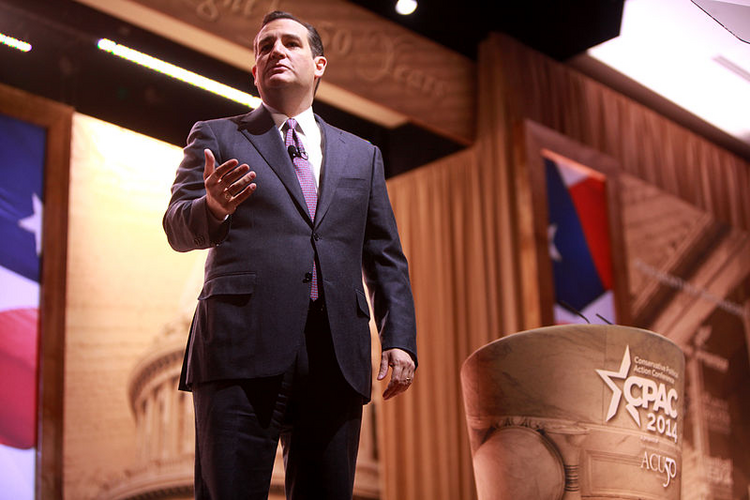 Ted Cruz speaking at CPAC 2014 in Washington, D.C. (Photo via Wikimedia Commons)