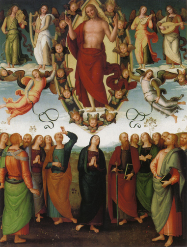The Ascension of Christ by Pietro Perugino 1505-1510