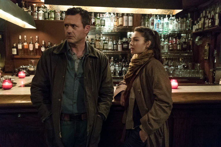 "Jason O'Mara and Alexa Davalos in the television adaptation of ""The Man in the High Castle"" (Liane Hentscher/Amazon Prime Video)"