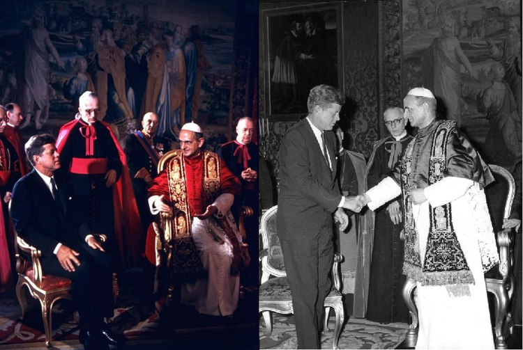 A Solemn Handshake Between Pope and President, Paul VI and John F. Kennedy, July 2, 1963