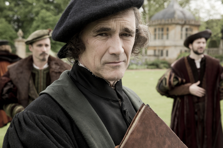 "Mark Rylance as Thomas Cromwell stars in a scene from ""Wolf Hall,"" which premieres on PBS stations Sunday, April 5, 10-11 p.m. EDT. (CNS photo/PBS)"