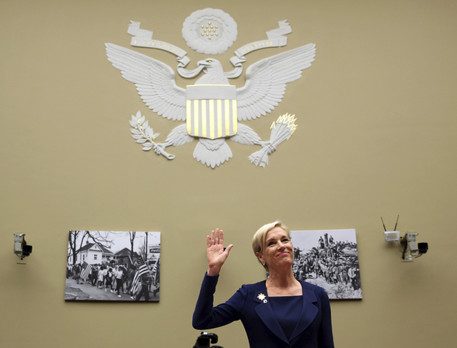 Cecile Richards, president of Planned Parenthood, before Congress