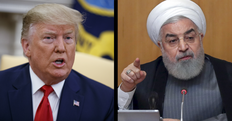U.S. President Donald J. Trump and Iranian President Hassan Rouhani (AP Photo/Evan Vucci)Iranian Presidency Office via AP)