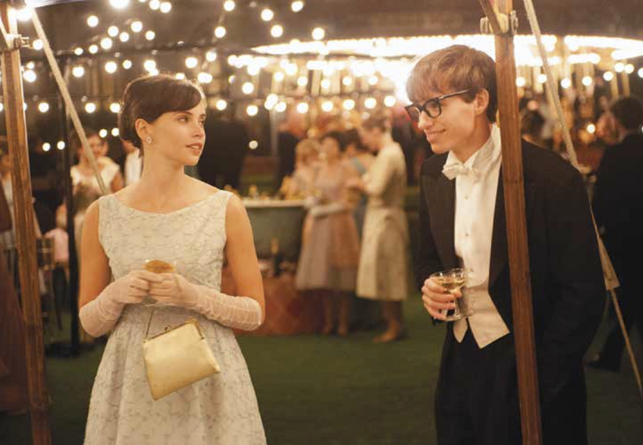 "MEET-CUTE. Felicity Jones and Eddie Redmayne in ""The Theory of Everything"""