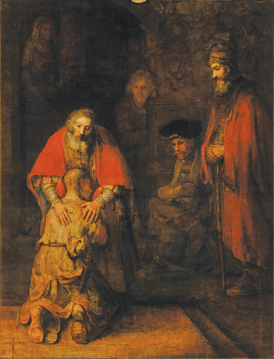 """Return of the Prodigal Son,"" by Rembrandt, circa 1668"