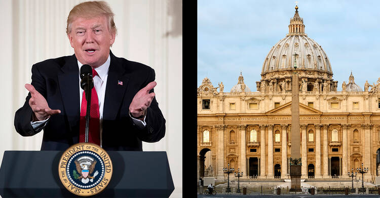 President Trump's reversal on climate change has been criticized in Rome.