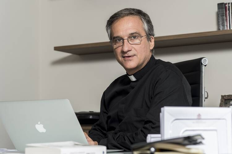Msgr. Dario Edoardo Viganò. Photo courtesy of Vatican Secretariat for Communication