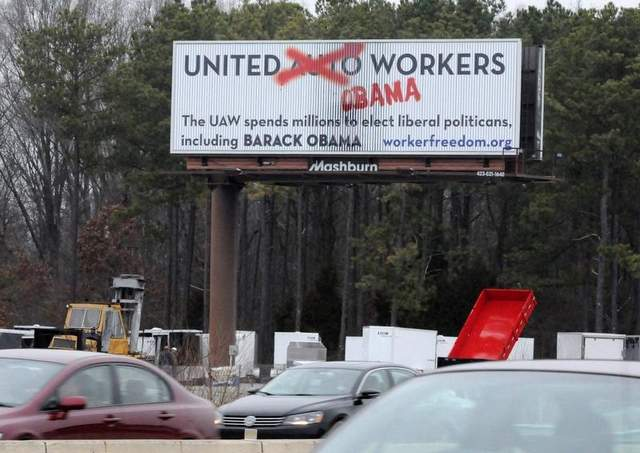 Conservative groups sponsored anti-union billboards