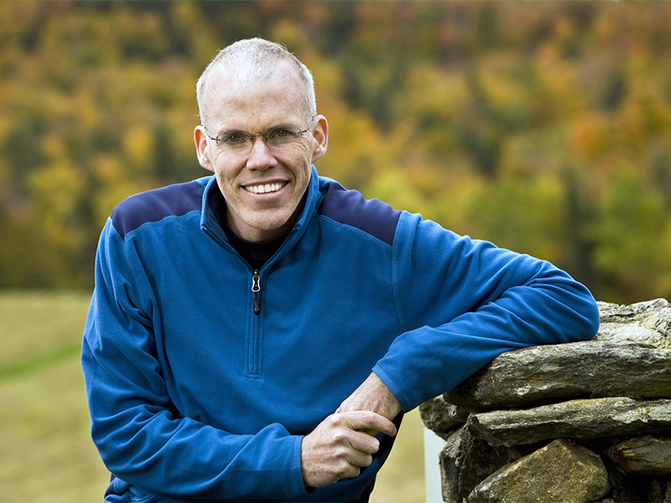Bill McKibben, author and activist, in 2009. Photo courtesy of Nancie Battaglia
