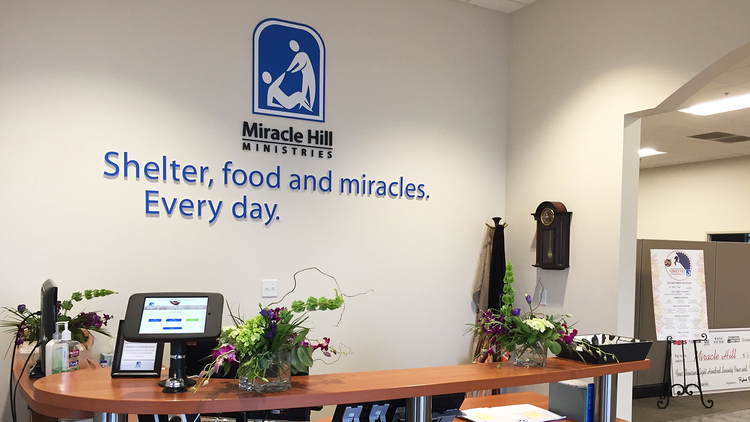 The front office of Miracle Hill Ministries in Greenville, S.C. RNS photo by Yonat Shimron