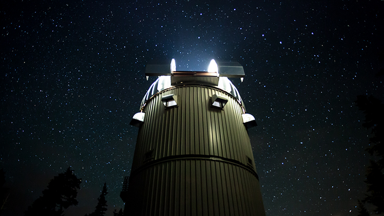 A long exposure at the Vatican Advanced Technology Telescope in southeastern Arizona in 2014. Photo courtesy of the Vatican Observatory