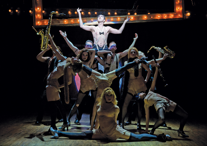 "OLD CHUMS. Alan Cumming and the cast of ""Cabaret"""