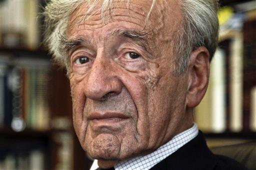 In this Sept. 12, 2012, photo Elie Wiesel is photographed in his office in New York (AP Photo/Bebeto Matthews).