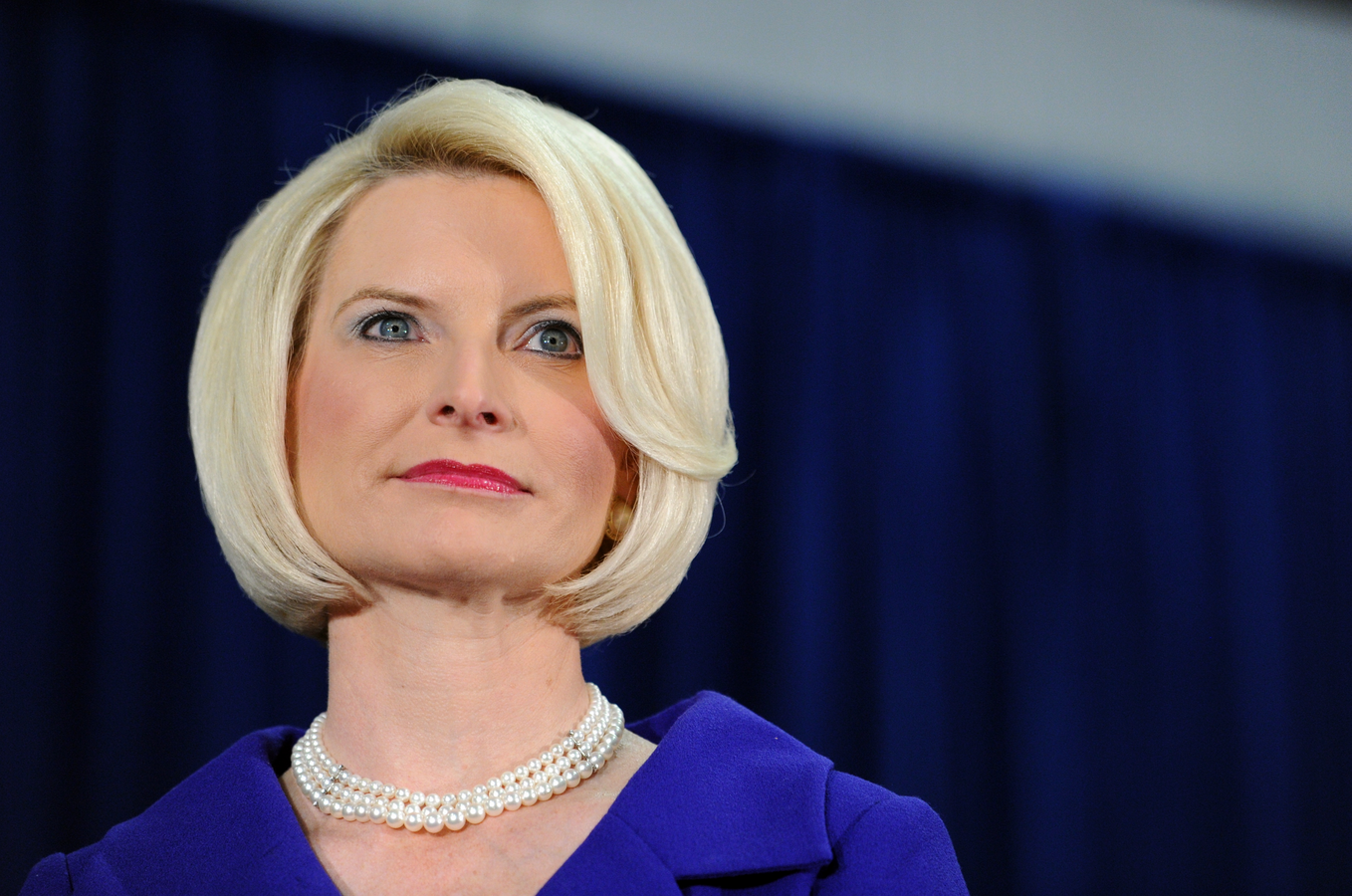 Callista Gingrich, wife of former House Speaker Newt Gingrich, has been nominated by President Donald Trump to be the new U.S. ambassador to the Holy See. She is pictured as her husband speaks at Peachtree Academy in Covington, Georgia, in this Feb. 29, 2012, file photo. (CNS photo/Erik S. Lesser, EPA)