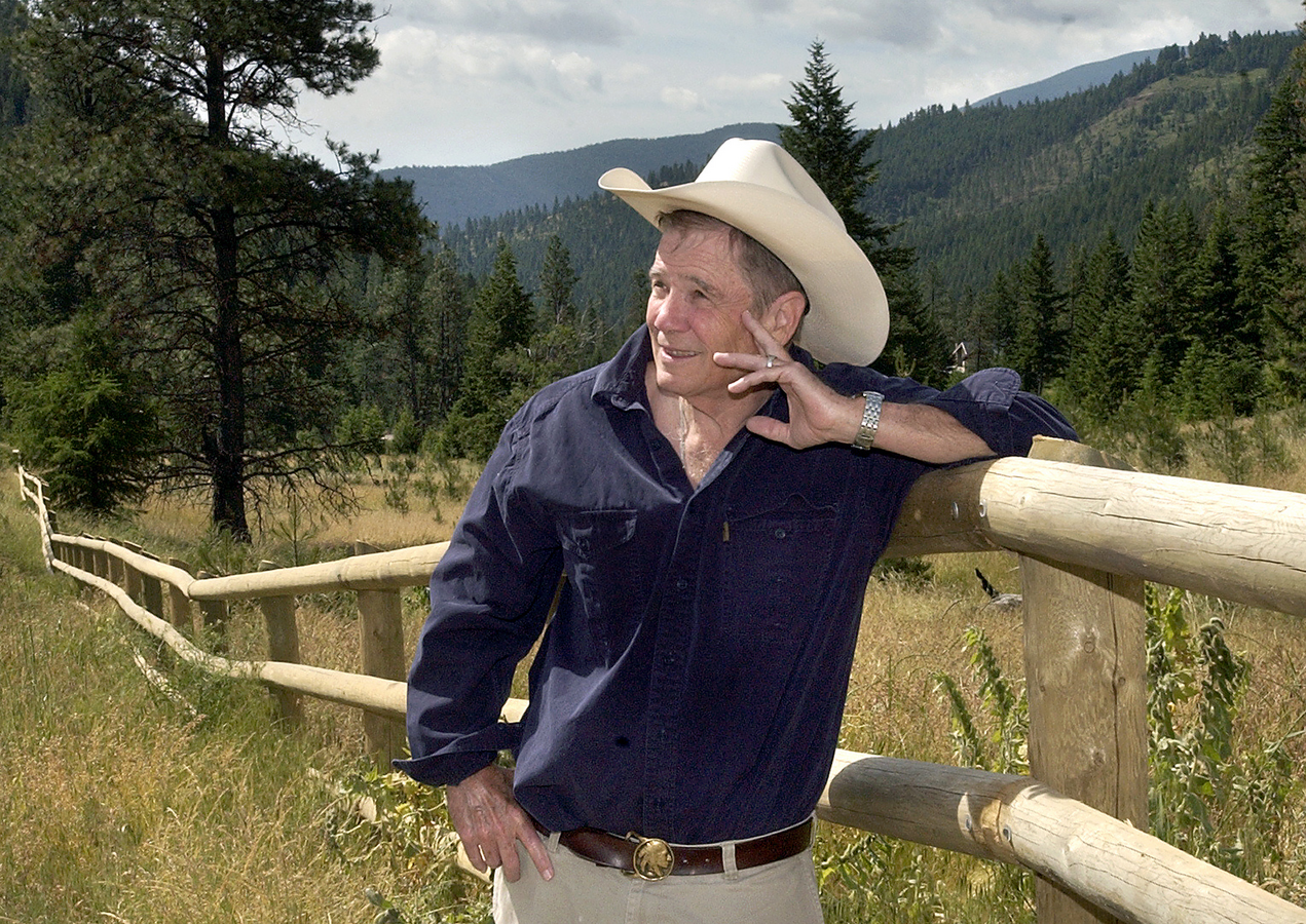 Author James Lee Burke stands in Lolo, Mont., July 7, 2005.(AP Photo/The Missoulian, Linda Thompson)
