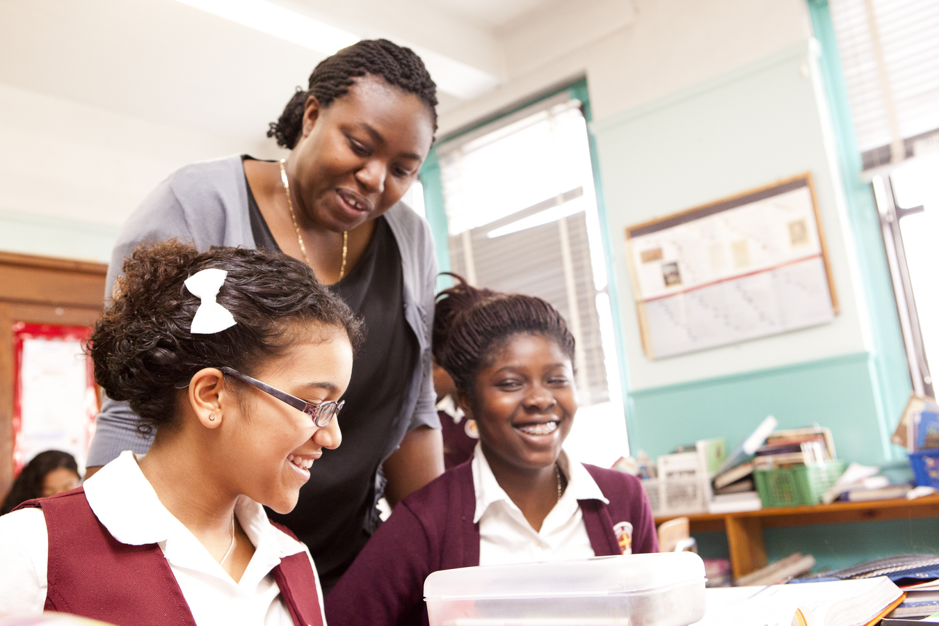At Sacred Heart School in the Bronx, the principal Abigail Akano encourages teachers to take ownership of their students' academic achievement. (Photo: Partnership Schools)