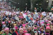 Pro-life Democrats are increasingly absent (or silent) at events such as the Women's March on Washington on Jan. 21. (CNS photo/Bob Roller)