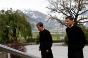 Seminarians walk on the grounds of the Society of St. Pius X seminary in Econe, Switzerland, in this May 9, 2012, file photo. (CNS photo/Paul Haring)