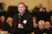 Cardinal Blase J. Cupich of Chicago speaks Nov. 13 during the fall general assembly of the U.S. Conference of Catholic Bishops in Baltimore. (CNS photo/Bob Roller)