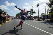 A street performer celebrates Independence Day in Washington, D.C., on July 4, 2018. (CNS photo/Tyler Orsburn)