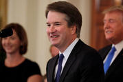 Brett Kavanaugh at the White House on July 9. (CNS photo/Jim Bourg, Reuters)
