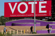 A billboard in Phoenix encouraged people to vote in the midterm elections. (CNS photo/Elijah Nouvelage, Reuters)