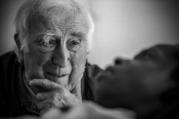 "Jean Vanier, founder of the L'Arche communities, appears in the documentary ""Summer in the Forest."" (CNS photo/Abramorama)"