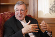 Australian Cardinal George Pell is pictured in Rome May 8, 2014. (CNS photo/Robert Duncan)