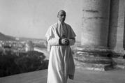 Pope Pius XII, who led the Catholic Church from 1939 to 1958, is pictured in this undated photo at the Vatican. (CNS photo/Vatican Media)