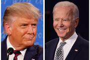 President Donald Trump and former Vice President Joe Biden, the Democratic nominee for president, are seen in this composite photo. (CNS composite/photos by Jonathan Ernst and Brian Snyder, Reuters)