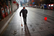 Empty streets in Jiujiang, China, on Feb. 3, 2020. (CNS photo/Thomas Peter, Reuters)