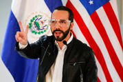 El Salvador President Nayib Bukele participates in a news conference on May 26, 2020, in San Salvador during a nationwide COVID-19 quarantine. (CNS photo/Jose Cabezas, Reuters)