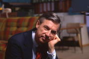 "Fred Rogers on the set of ""Mister Rogers' Neighborhood"" (Jim Judkis/Focus Features)"
